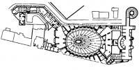 Москва. Конкурс на здание Академии художеств. 1981 г. План первого этажа