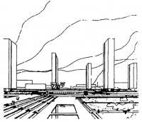 Москва. Проект реконструкции площади Ильича. 1965 г. Генплан