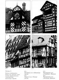 Мотив изгибающейся вперед под кровлей стены и мотив «фронтончиков» в фахверковой архитектуре Европы