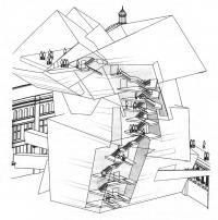 Музей Альберта и Виктории, спираль экспозиционного пути. Даниэль Либескинд, 1988