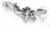 Музей Гугенхейм в Бильбао. Ф. Гери, Испания. Графическая модель, 1991