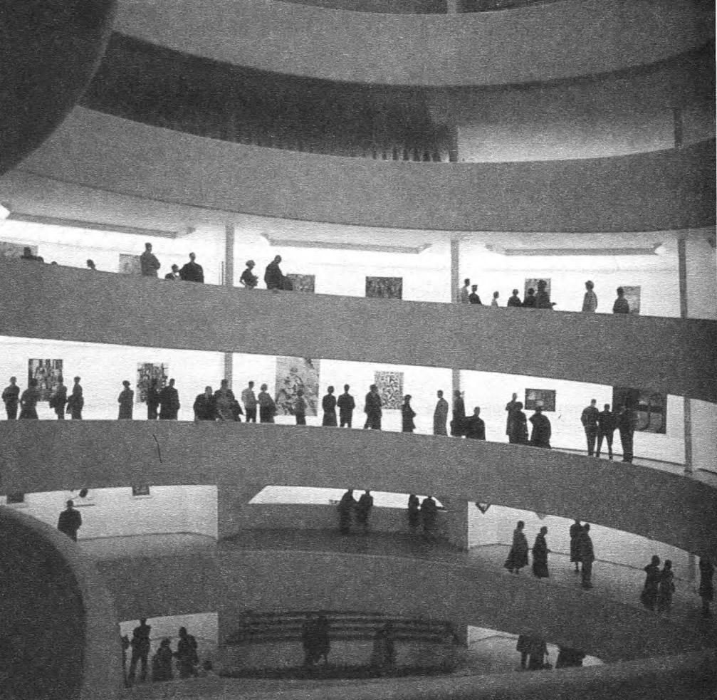 Музей Гугенхейма. Спираль внутреннего пандуса. Ф.Л. Райт, 1943—1959
