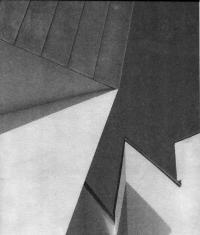 Музей мебели фирмы Витра. Фрагмент фасада. Ф. Герн. Вайль, Германия, 1989