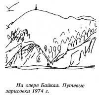 На озере Байкал. Путевые зарисовки 1974 г.