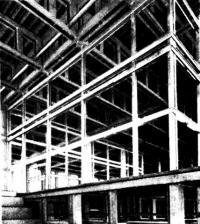 Несущие конструкции перекрытия-балки Виренделя в обоих направлениях
