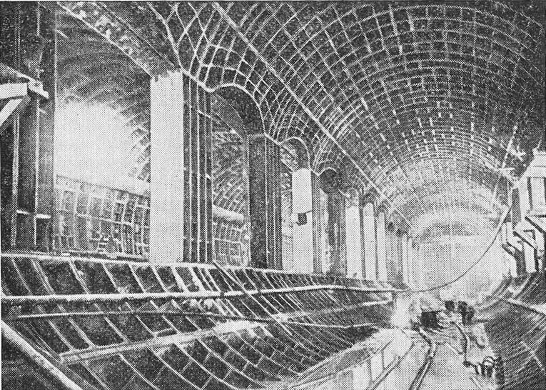 Общий вид конструкции станции «Марксистская»