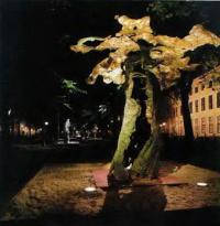 Освещение скульптуры Эрамен (скульптор Р. Матта)