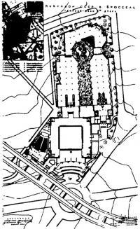 Павильон СССР на Международной выставке в Брюсселе. План