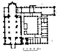 План Бернардинского костела и бывшего монастырского здания (кляштора)