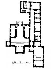 План церкви Рождества Богородицы и монастырского здания