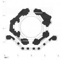 План на уровне галереи придела Киприана и Устиньи