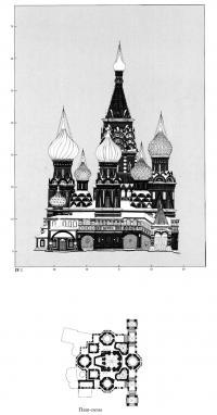 План-схема северного фасада Покровского собора