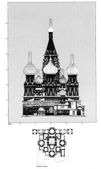 План-схема восточного фасада Покровского собора