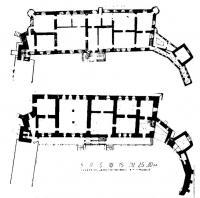 Планы первого и второго этажей дворца Батория