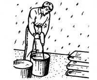 Подготовка наливной массы