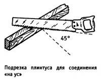 Подрезка плинтуса для соединения «на ус»