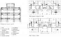 Поперечный разрез и план первого этажа