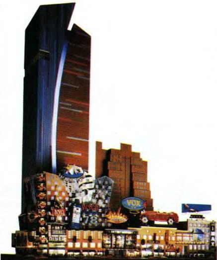Проект многоэтажного офиса на 42 улице. Группа Архитектоника. Нью-Йорк, 1995