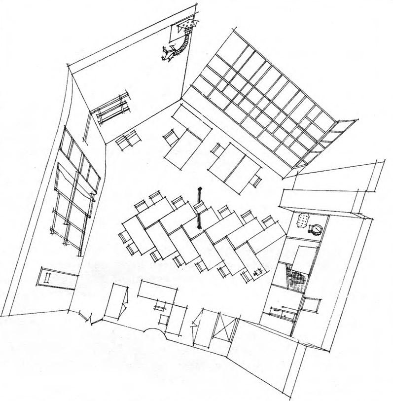 Проект реконструкции интерьера кафедры Дизайн архитектурной среды. МАрхИ, 1988