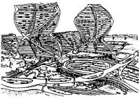 Проект спирального города. Архит. К. Курокава