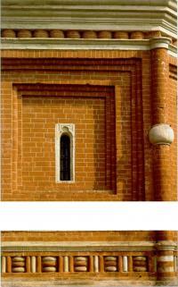 Профилировка цокольной части столпов