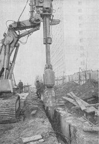 Производство работ методом «стена в грунте»