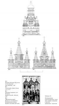 Пятибашенная композиционная схема типа церкви в Дьякове и русское деревянное зодчество