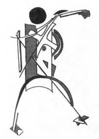 Работа по представлению: стилизованное изображение человеческой фигуры (в стиле А. Родченко)