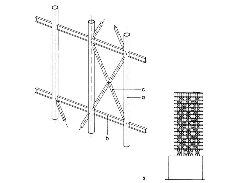 Расположенные снаружи вертикальные связи из труб