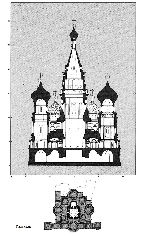 Схема рисунок церковь