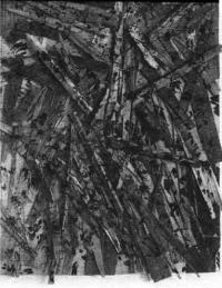 Рельеф Поэзия разрушения, дерево, гвозди, черный лак 200х160 см. Г. Юккер, 1987