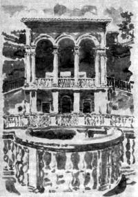 Рим. Вилла папы Юлия III. Фрагмент. Сущность архитектуры в ее пространственном решении