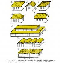 Рис. 1. Формы крыш