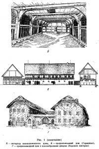 Рис. 1. Нижненемецкий и средненемецкий дома (окончание)