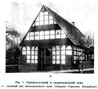 Рис. 1. Нижненемецкий и средненемецкий дома