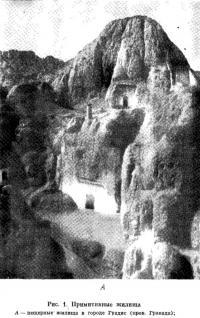 Рис. 1. Примитивные жилища