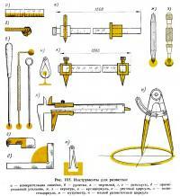 Рис. 105. Инструменты для разметки