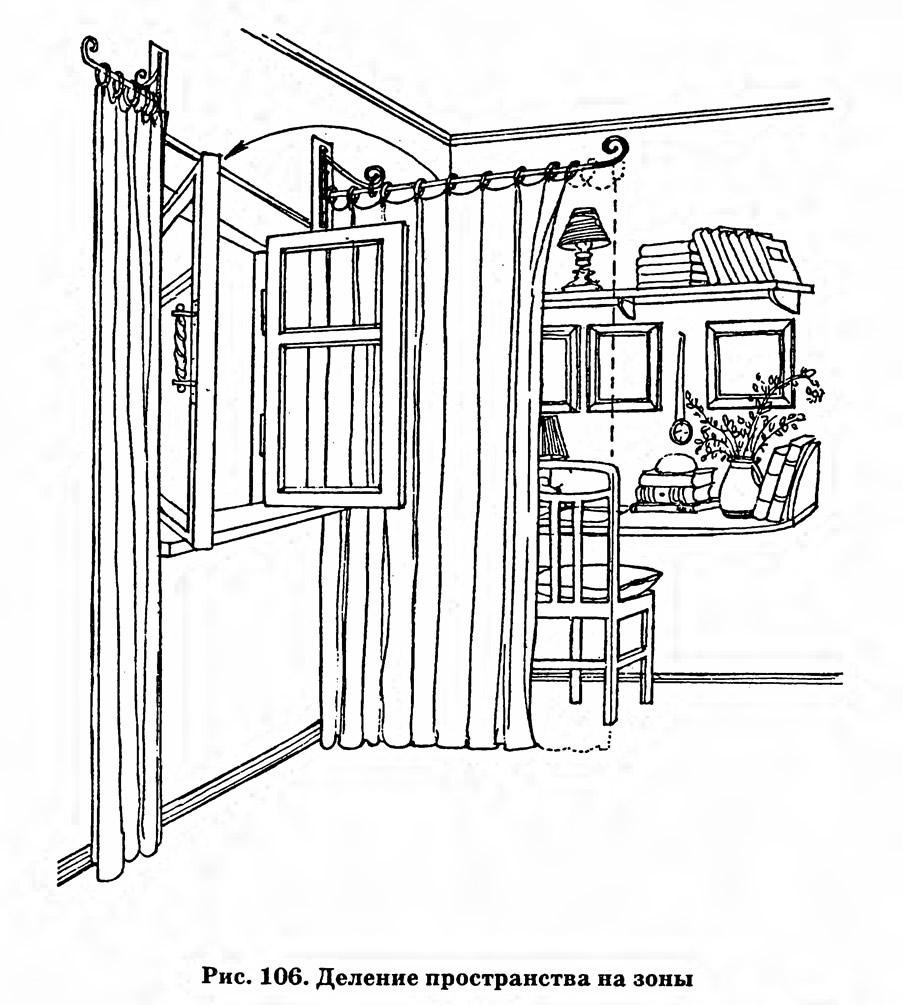 Рис. 106. Деление пространства на зоны