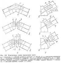 Рис. 108. Конструкции узлов стрельчатых арок