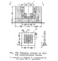 Рис. 10.8. Опирание колонны на сборный железобетонный башмак