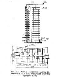 Рис. 11-3. Жилые 16-этажные здания, построенные в г. Сочи в скользящей опалубке