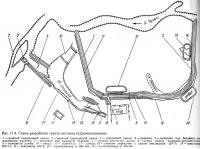 Рис. 11.4. Схема разработки грунта методом гидромеханизации