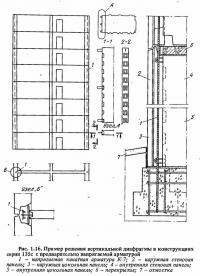 Рис. 1.16. Пример решения вертикальной диафрагмы
