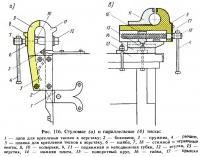 Рис. 116. Стуловые и параллельные тиски