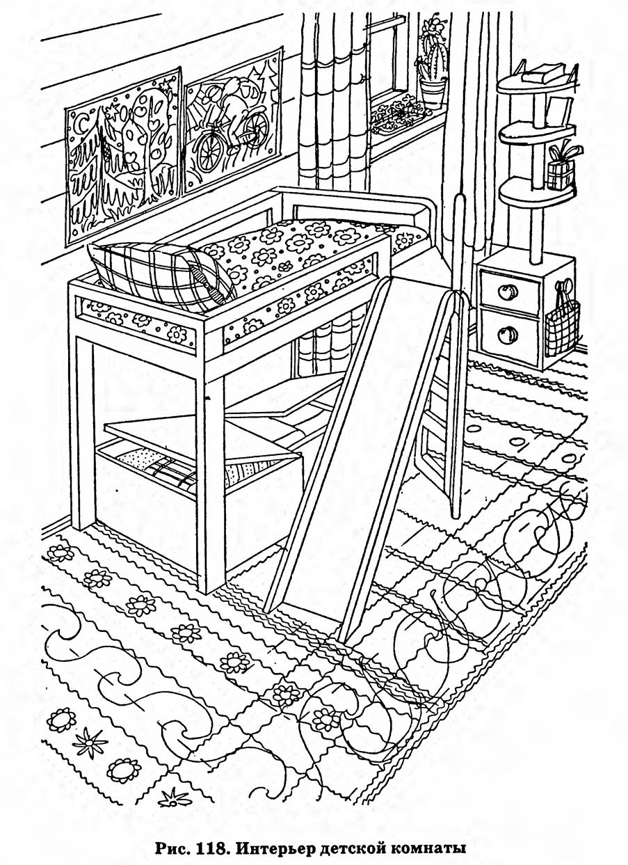 рис 118 интерьер детской комнаты рисунок из статьи дизайн