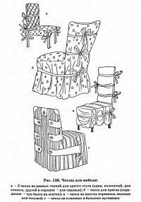 Рис. 126. Чехлы для мебели