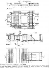 Рис. 12.8. Схема подкрановых путей башенных кранов БК-1000