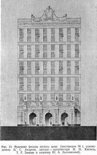 Рис. 13. Фрагмент фасада жилого дома