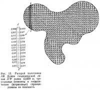 Рис. 13. Раскрой полотнища АВ