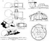 Рис. 13. Сочетание складных мобильных зданий из жестких и мягких элементов